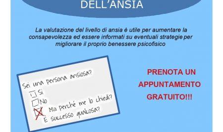 SCREENING GRATUITO DELL'ANSIA